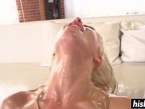 Annika Albrite Gets Oiled And Fucked