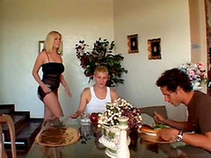 A Dinner Party Ends With Two Guys Double Penetrating A Hot Chick