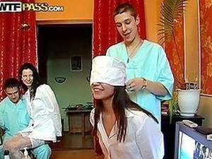 Horny Nurse Is Getting Balled By Three Patients