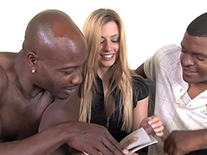 Two Black Dudes Are Going To Bang This Blond Chick