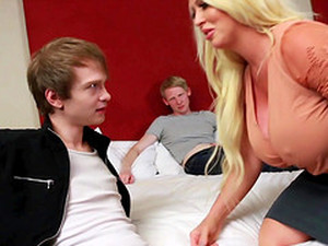 Busty Alura Jenson Knows How To Satisfy Two Guys At The Same Time