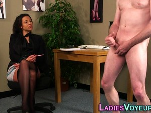 Femdomina Measures Cock
