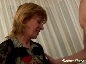 Mature Lady Sucked Her Step-son's Penis