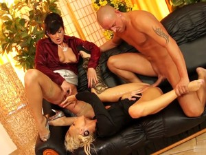 Awesome Group Sex With Perfect Mature In Lingerie