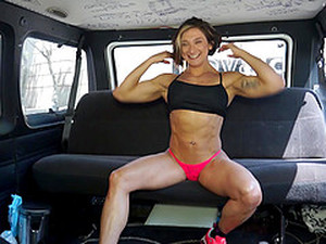 Strong Chick Karyn Wants To Fuck With A Friend In The Car