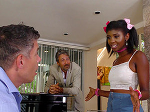 Ebony Chick Daizy Cooper Lets Two Guys Fuck Her At Once