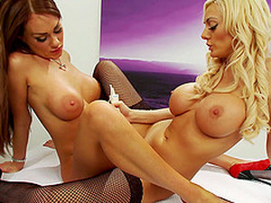 Paige Ashley And Antonia Deona Like To Share Long Sex Toys