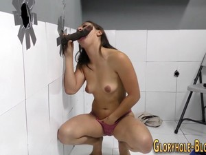 Gloryhole Babe Sucks Bbc Big Cock