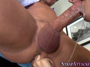 Strapon Clad Teen Pounded