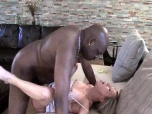 Blonde Hot Slut Gets Her Cunt Banged By Black Guy