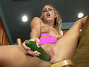 Naughty Sweetie Desire Moore Likes To Masturbate With Vegetables