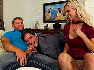 Astrid Star And Two Naughty Guys Finally Get To Please Each Other