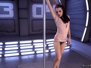 Skinny Pole Dancer Fucking Machine