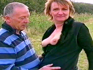 Mature British Couple Are Filmed Having Risky Sex Outside