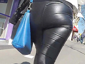 Big Hot Ass In Leather Tight Pants