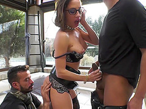 Desirable Chick Malena Finally Gets To Bang With Two Guys At Once
