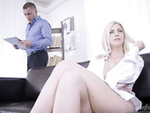 Posh Czech Blonde Nathaly Cherie Gets Intimate With Her New Lover