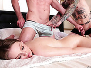 Bisexual Dudes Fuck Each Others Throats And Sex-appeal Red Head Maya Kendrick