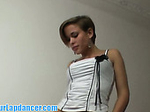 Short Haired Blonde Bombshell Gives An Awesome Blowjob