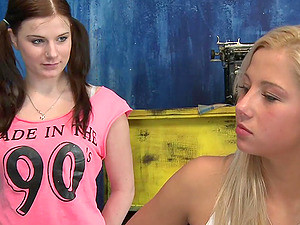 Charlotte And Luci Ride A Cock In Terrific FFM Threesome Action