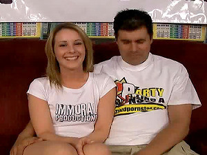 Lovely Blonde Chick Gices An Amazing Footjob To Her Horny Lover