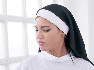 Wonderful Lesbian Threesome With A Sexy Nun And Aysha And Gina
