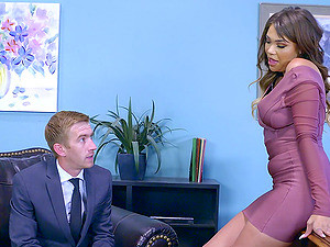 Busty Cassidy Is Bored Of The Office Work And Would Like To Have Sex!