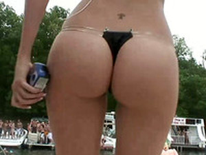 Awesome Dance Battle Of Well Shaped All Natural Amateur Bikini Girls