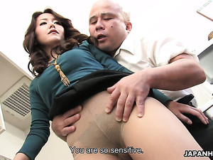 Lewd Hubby Invites A New Worker To His House Where They Fuck Nao Kato