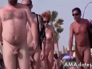 Walkers On Nude Beach Amateur Film 1