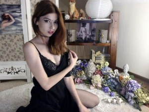 Busty Teen Redhead Shows Off On A Webcam