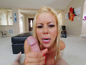 Extravagant Alexis Fawx Gives A Stunning Titjob To Her Partner