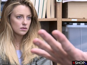 Blonde Petite Teen Thief Got Banged In The Back Office