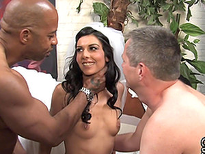 Unbelievable Lou Charmelle Gets Fucked By A Black Boy In Her Wedding Day
