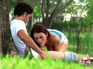 Spying On A Horny Couple Getting Laid Outdoors