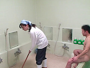 Japanese Cleaning Lady Receives A Pretty Good Doggy Style Pounding
