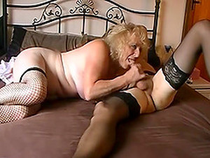 Grandmas Homemade Film With Two Mature Crossdressers