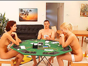 Strapon Dildo And His Dick Used In A Sexy Game Of Poker