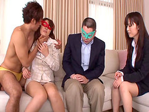 An Asian Couple Blindfolds And Fucks A Horny Japanese Girl