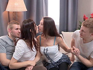 A Wild Foursome Explodes When Two Couples Strip Down And Party