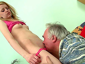 THis Sexy Blondie Is Here To Please This Grandpa