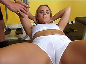 Captivating Dame In Gym Short Displaying Her Ass Then Getting Screwed Hardcore