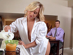 Kinky Housewife Invites Her Husband To Join Her And Her Friend