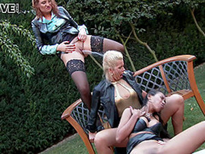 Mind-blowing Babes Getting A Good Pounding In The Green Backyard