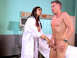 Busty And Slutty Doctor Loves Fucking Patients With Big Cocks