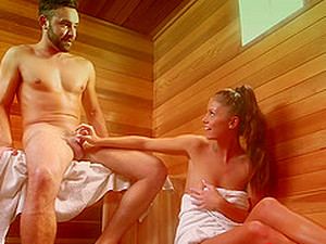Couple In The Sauna Spends Their Time Fucking Hardcore