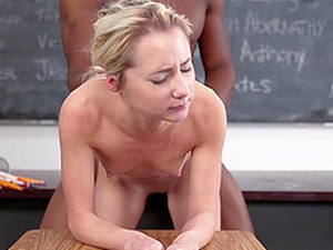 Tiny Blonde Student Fucks BBC Teacher
