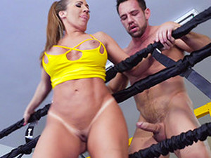 Sporty Blonde MILF Richelle Ryan Fucks And Swallows Cum In The Ring