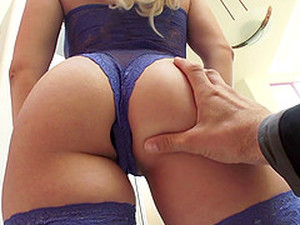 Lace Lingerie Beauty Fucked In Her Tight Booty By A Big Cock