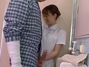 Horny Nurse Gives A Nice Blowjob In The Toilet